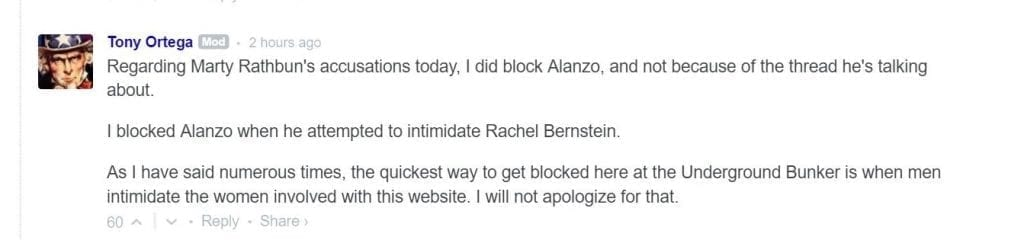 Why Tony Ortega Banned Alanzo
