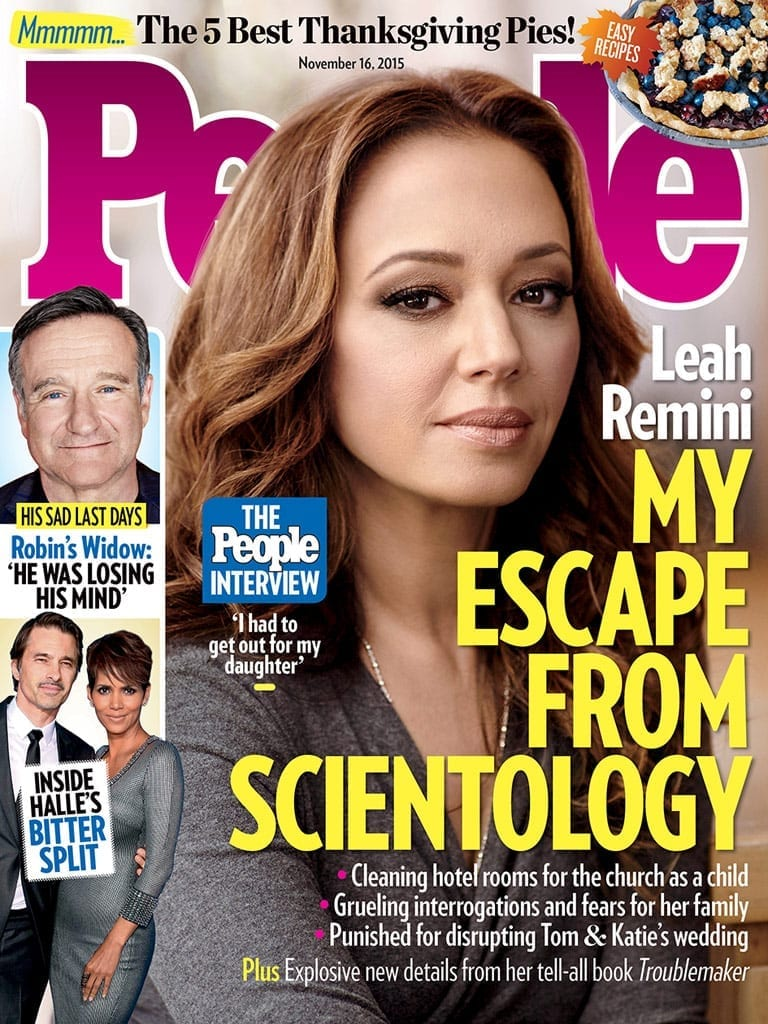 leah remini cover magazine scientology leaving williams robin celebrity surgery opens interview susan finally makes husband cruise tom november catholicism